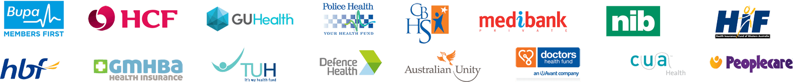 Mayfield Dental Care Health Funds Logos